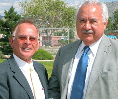 Carl Becker, SSTPDC Project Engineer and Pedro Garza, Austin Regional Director, EDA