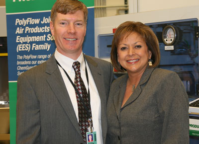 Governor Susana Martinez visited Air Products
