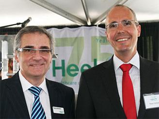 Thierry Montfort, Heel Inc. CEO and Ralph Schmidt, Heel Global CEO